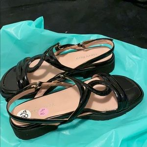 Taryn Rose sandals black patent leather